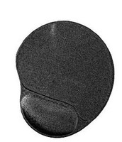 Mouse Pad Gel w/wrist rest Black