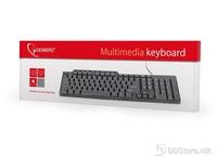 Keyboard KB-UM-104 Multimedia USB Black