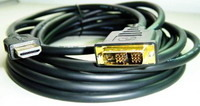 Cable HDMI to DVI M/M gold-plated connectors 3m