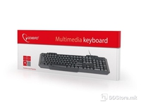 Keyboard KB-UM-105 Multimedia USB Black