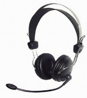 Headphones w/Mic A4 HS-7P Stereo Headset