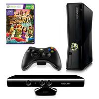 XBOX 360 4GB Console MODDED with Kinect+Wireless Controller+Game Adventures