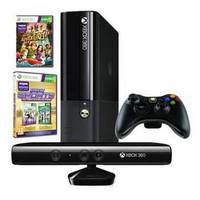 XBOX 360 4GB Console with Kinect + WiFI Con. + Game Kinect Adventures + Game Kinect Sports Ultimate