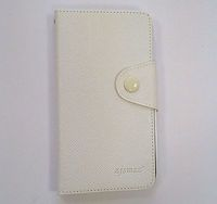 Case for Lenovo A590 White w/Leather Cover