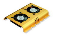 HDD Cooler w/2xFan HD-A4 Ball Bearing