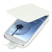 Flip Cover i8190 (Galaxy S3 Mini) Leather White