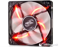 Case Fan 120x120x25 Deepcool Wind Blade 120 RD 1300rpm Semi-transparent Black/Red LED