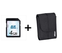 Nikon SET for S3300/3500 SDHC 4GB+BAG