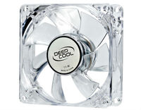 Case Fan 80x80x25 DeepCool XFAN 80L/B 1800rpm Silent Transparent w/Blue LED