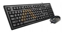 Keyboard A4 KRS-8572U ComfortKey w/Mouse USB Black