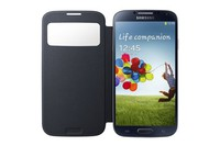 Flip Cover I9500 Samsung Galaxy S4 Blue w/ Slide Window