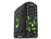 ATX Midi Tower Case SAMA Y01 w/USB3.0, Card Reader Gaming Black/Green w/o PSU