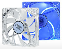 Case Fan 120x120x25 Deepcool XFAN 120L/B 1300rpm Silent Transparent w/Blue LED