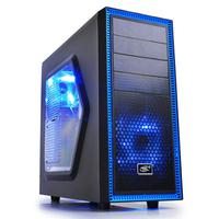 ATX Midi Tower Case Deepcool Tesseract SW Black/Blue w/USB 3.0, USB 2.0, 2x Blue LED Fan