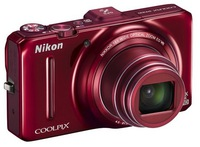 Dig. Camera Nikon Coolpix S9300 Red SET 4GB SD/ Bag