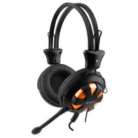 Headphones w/Mic A4 HS-28-3 Stereo Headset w/Vol.c