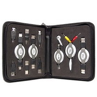 Adapters Kit w/Case 11pcs USB. FW, Phone, Earphone