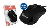 Mouse MUS-101 Optical Black 1200DPI USB