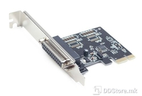 Parallel port PCI-Express add-on card Gembird LPC2