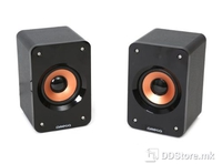 Speakers 2.0 Omega Wooden Cabinet USB Black