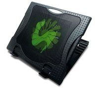 "Notebook Stand Omega Sub Zero up to 17""/16cm Fan/2 USB ports/Black"