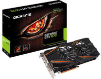 Gigabyte PCX GeForce GTX 1070 WINDFORCE OC 8GB GDDR5 DVI/HDMI/3xDP VR Ready DX12 WINDFORCE 2X
