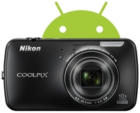 Dig. Camera Nikon Coolpix S800c Black  SET 4GB SD/ Bag