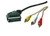 Cable 3xRCA to SCART 1.8m