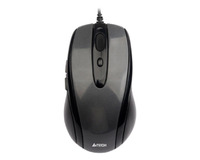 A4TECH MOUSE N-350-2 V-TRACK PADLESS MOUSE USB BLACK+RED