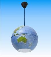 Глобус Лустер физичко/политички