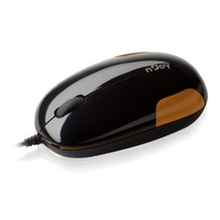 Маус WR501 Wired Optical Mouse, USB 2.0, 3 buttons, 800 dpi, 135 cm cable, high glossy black + orang