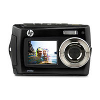 "Дигитална камера, Отпорна на вода, HP C150W Double LCD 8MP 2.7"" Back + 1.8"" Front LCD Black."