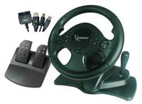 Gembird Steering Wheel 4in1 ShockForce 2xVibration PS2/PC