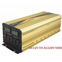 2000W peak power UPS charging inverter DC12V to AC220V 1000w pure sine wave inverter charger