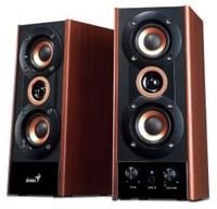Genius Speaker 2.0, 20W RMS, 3-Way, Wood, SP-HF800A