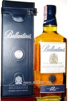 Ballantine's 12 YO + leather box