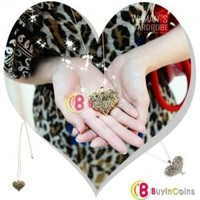 Exquisite Elegant Retro Hollow Heart Style Palace Carve Necklace