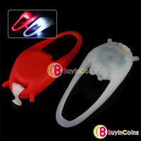 2 Silicone Bike Bicycle Head Rear Wheel LED Flash Light