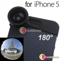 180° Fish Eye Lens + Wide Angle Lens+ Macro Lens 3-in-1 Kit for iPhone 5 Black 1