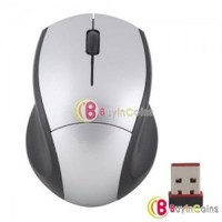 Comfortable Shape Optical Wireless 2.4GHz Mice Mouse for Laptop PC Notebook #14