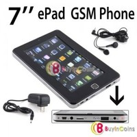 """7"""" ePad Webcam Tablet PC Android 2.2 4GB WiFi + GSM Mobile Cell Phone Call 1"""