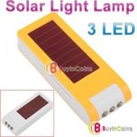 2 Colors Portable 3 LED Solar Powered Flashlight Cap Torch Light Lamp