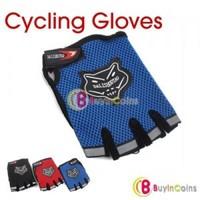Bicycle Bike Half Finger Cycling Gloves Pad Mesh w/ Gel