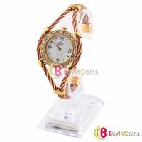 Beauty Bangle Bracelet Style Lady Crystal Wrist Watch