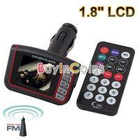 "1.8"" LCD Car MP3 MP4 Player Wireless FM Transmitter USB SD Slot w Remote Control"