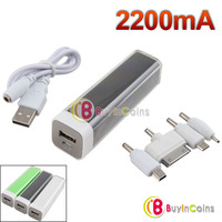 Portable Emergency External Battery Charger 2200mAh Power Bank for iPhone Nokia 2