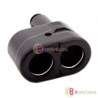 Car Cigarette Lighter 12V Socket Splitter Adapter Kit