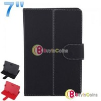 "Universal 7"" 7 inch Tablet PC MID PU Leather Protect Cover Case Stand New"