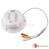 Functional Smoke Detector Real Alarm Sharp CCD Pinhole color Camera w/ Mic
