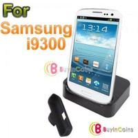 Desktop Dock Sync Cradle Battery Charger Holder for Samsung Galaxy S3 SIII i9300 2